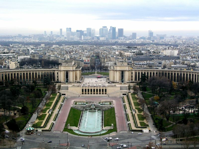 Paris Palais Chaillot, Trocadero und La Defense