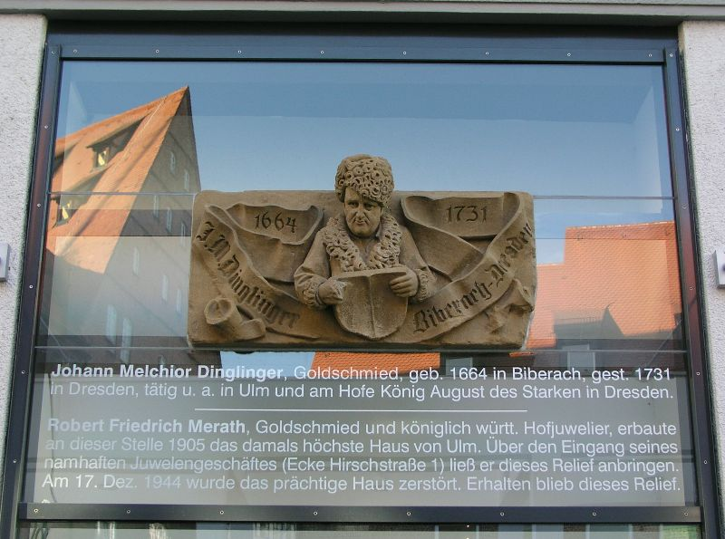 Dinglinger Relief in Ulm